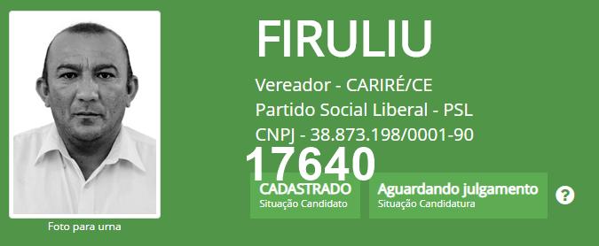 Conheça os candidatos a Vereador do PSL de Cariré já cadastrados no TSE