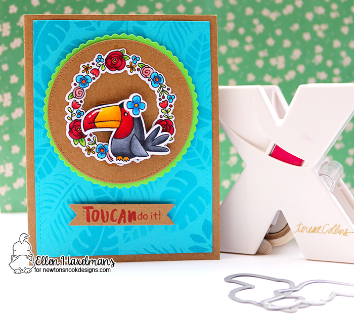 Newton's Nook Designs & Xyron Inspiration Week | Toucan Magnet card by Ellen Haxelmans | Toucan Party Stamp Set by Newton's Nook Designs #newtonsnook #xyroninc