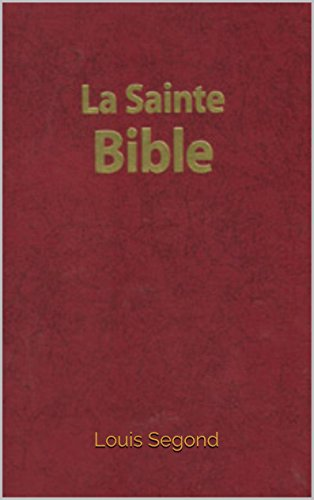 gratuitement la bible louis segond en pdf