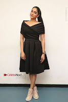 Actress Regina Candra Pos in Beautiful Black Short Dress at Saravanan Irukka Bayamaen Tamil Movie Press Meet  0037.jpg