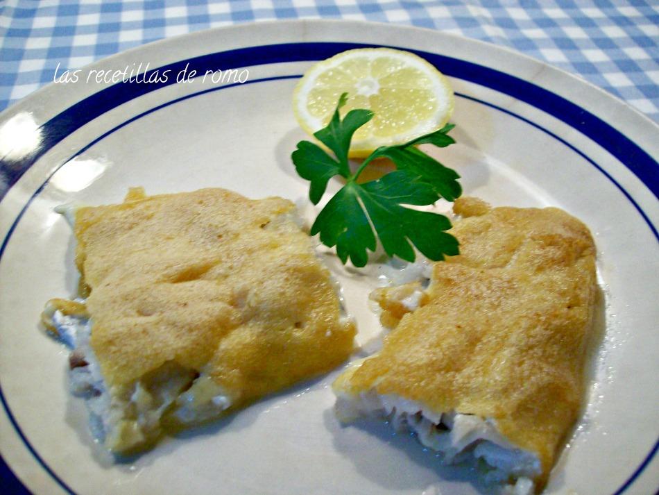 Bacalao fresco con costra de mayonesa al ajo
