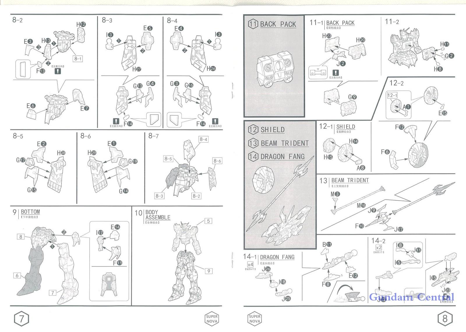 Super Nova: MG 1/100 Gundam Nataku EW ver. Manual and Box