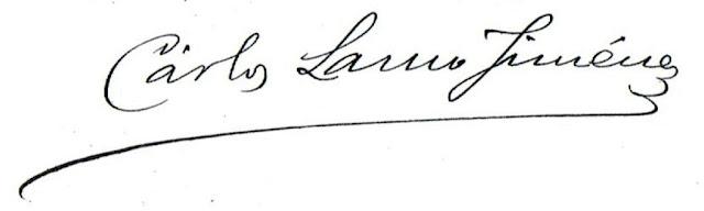 Copia de la firma de Carlos Lamo en una de las solicitudes de matrícula en la Unversidad Central
