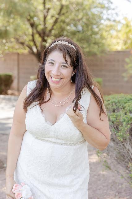 bridal portrait during a pop up wedding in az