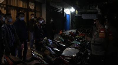 Langgar Aturan PPKM Darurat Puluhan Anggota Club Motor Diamankan Polisi