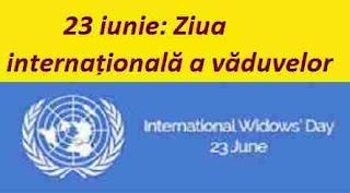 23 iunie: Ziua internațională a văduvelor
