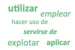 Sinónimos de 'usar'