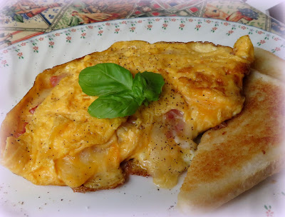 Salami & Cheese Omelette