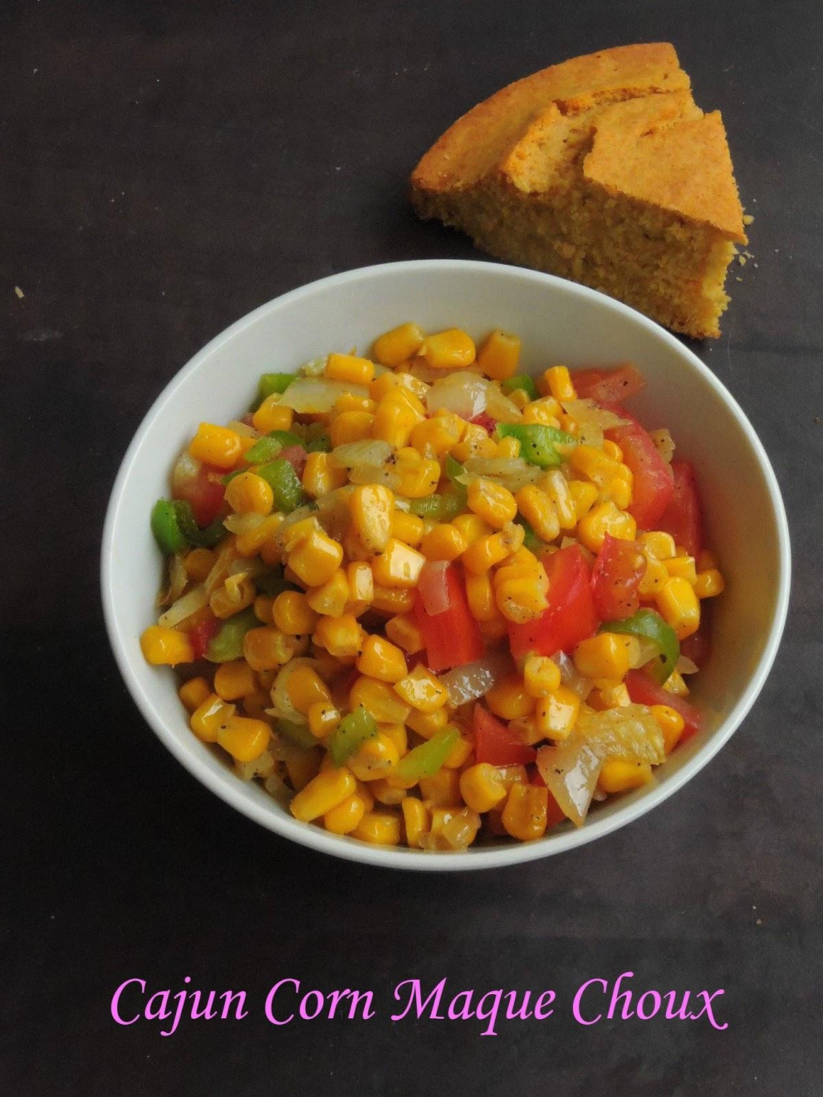 Priya's Versatile Recipes: Vegan Cajun Corn Maque Choux