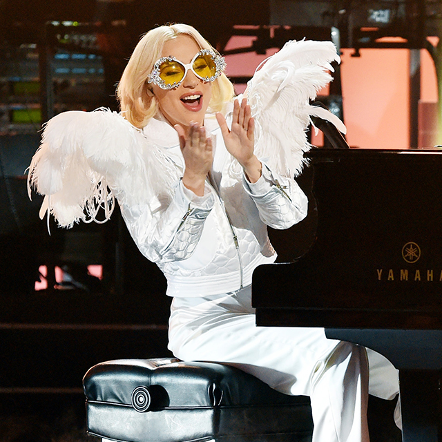 Lady Gaga Performs Elton John's 'Your Song' at Grammy Tribute