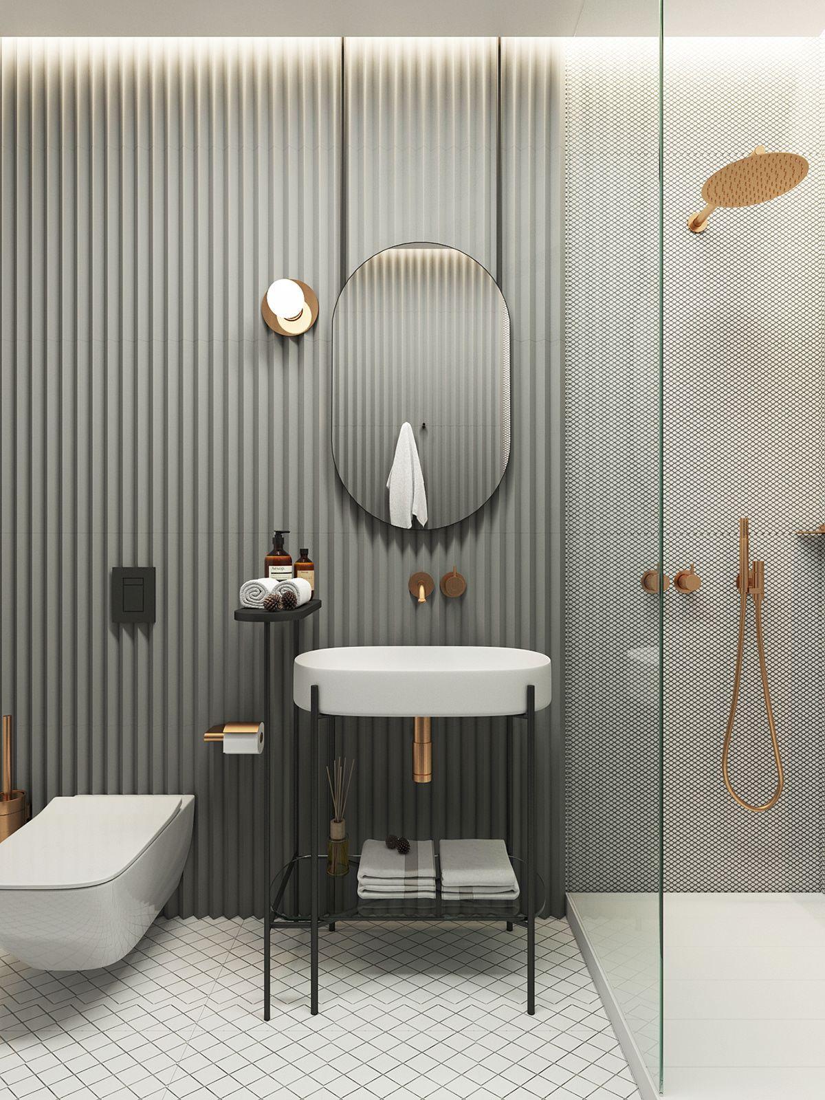 ilaria fatone inspiration - une salle de bains graphique