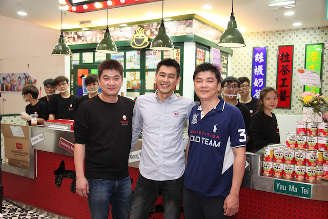 Andrew Lau, director of Dairy Tooth Ice House with other VIPs