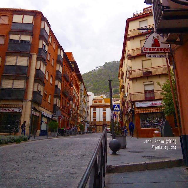 Street in Jaen, Spain