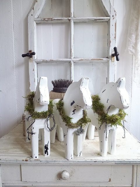 wooden horses for christmas