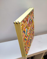 schilderij theekistje, paper art