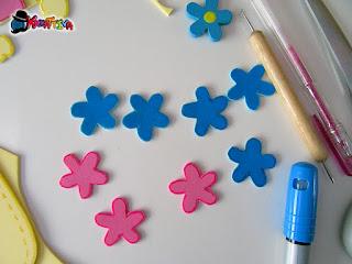 personalizza i fiori fai da te in gomma crepla