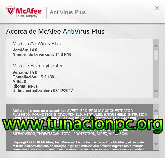 McAfee AntiVirus Plus Imagen