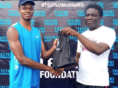 Former BBNaija Contestant Kemen leads the TECNO Mobile Festac Fitness and Walk in a Bid to Encourage Fitness