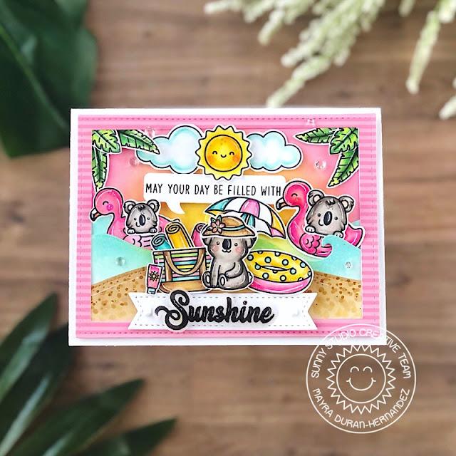 Sunny Studio Stamps: Beach Buddies Tiki Time Summer Card by Mayra Duran-Hernandez