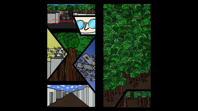 Screenshot of comic book cutscenes from Cymatically Muffed