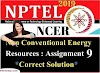 Non-Conventional Energy Resources - NPTEL Assignment 9 Answers