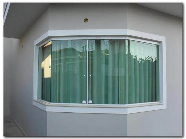 24- Modelo de janela bay windows de alum?nio!