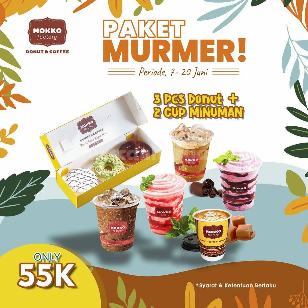 Promo MOKKO FACTORY harga spesial Paket MURMER hanya Rp. 55.000
