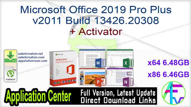 Microsoft Office 2019 Pro Plus v2011 Build 13426.20308 + Activator