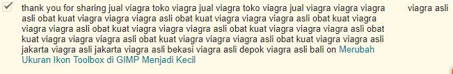 komentar spam yang ada di blog ini
