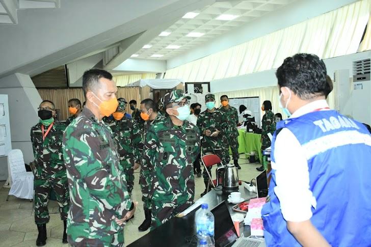 Kasdam XIV/Hasanuddin, Brigjen TNI Andi Muhammad Tinjau Posko Covid -19 Sulsel