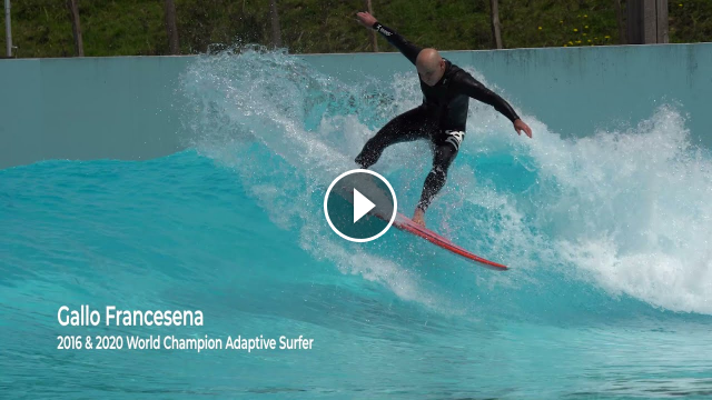 Aitor Francesena aka Gallo surfing the Wavegarden Cove Blind surf