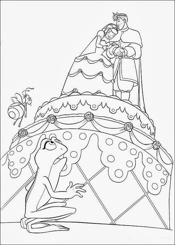 Fun Coloring Pages: The Princess and The Frog Coloring Pages