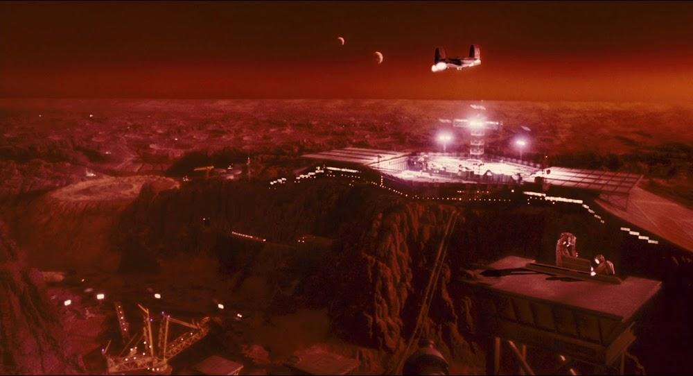 Mars spaceport in Total Recall 1990 movie