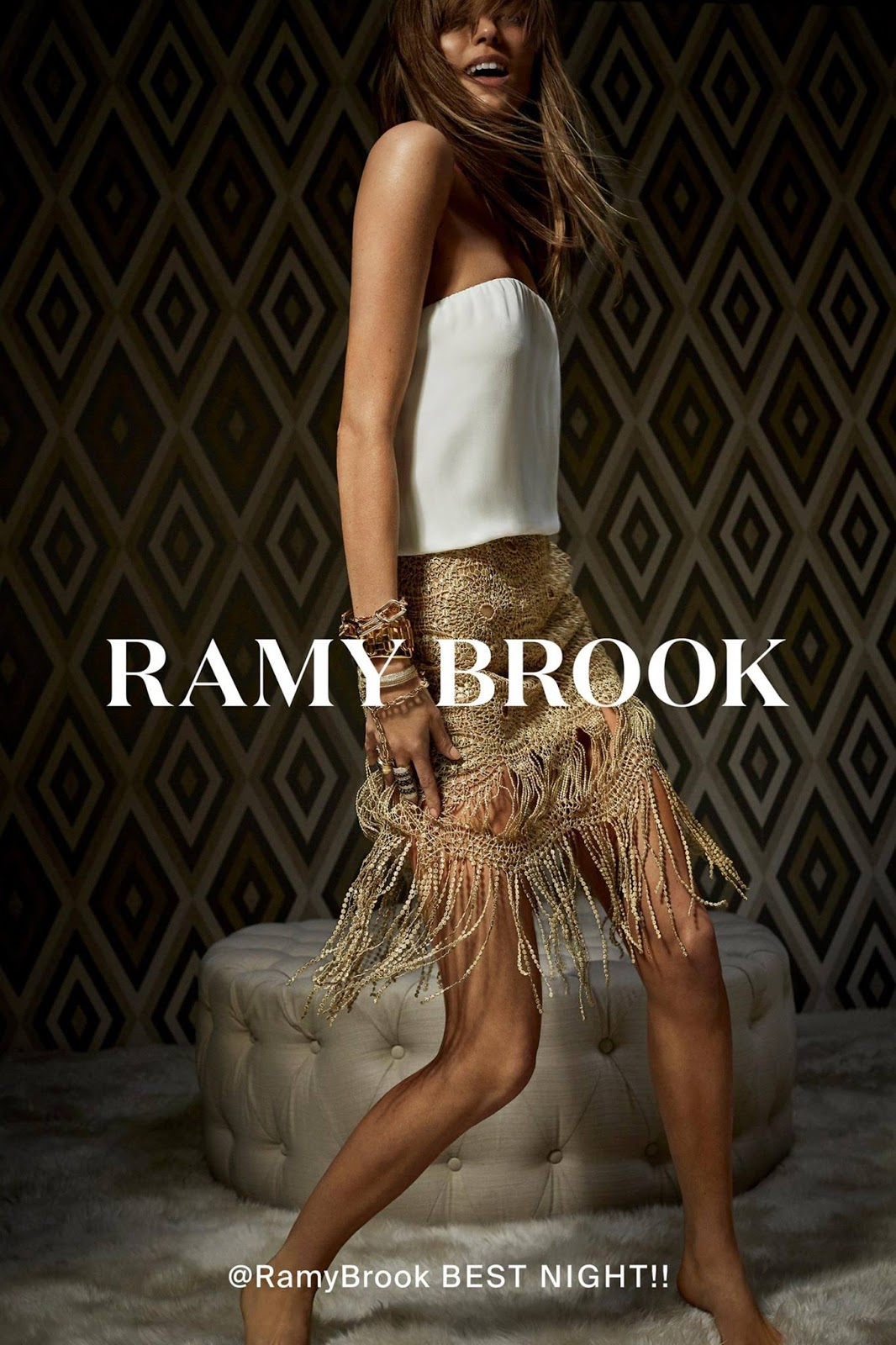 Ramy Brook Spring 2018 Ad Campaign starring Martha Hunt