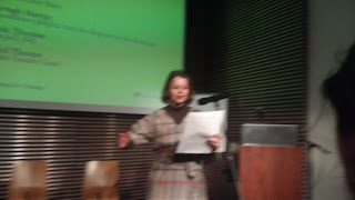 Justina Hart reading from her poem sequence Doggerland Rising.