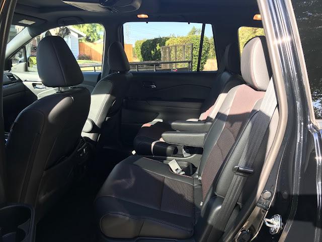 Interior view of 2020 Honda Pilot Black Edition