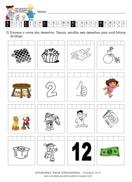 Bingo com desenhos DA-DE-DI-DO-DU jpg
