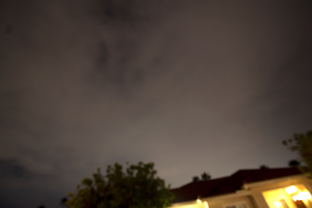 Hiding under an awning to stay safe and dry, DSLR, 10mm, 15 seconds (Source: Palmia Observatory)