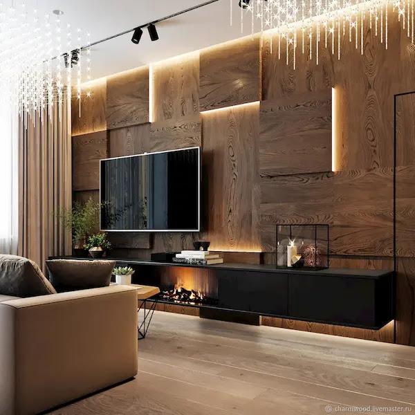أجمل الديكورات الخشبية للجدران والشاشات مع أفكار ديكور خشب جداري داخلي ساحره