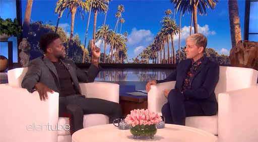 During today's chat, Ellen basically lets Hart have the floor to explain what hosting the Oscars meant to him, how he viewed the shit storm over his homophobic tweets involved statements from a decade ago and how he's spent ten years moving on from that 'immature' comedian into becoming a grown, cultured man.  DeGeneres urged Hart to reconsider his decision on stepping down as Academy Awards host.