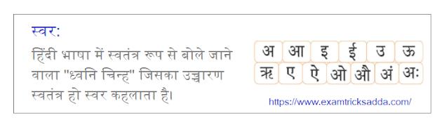 Swar in Hindi