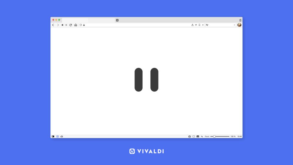 Vivaldi browser consente di mettere in pausa Internet