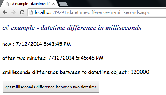 Current datetime to string c#