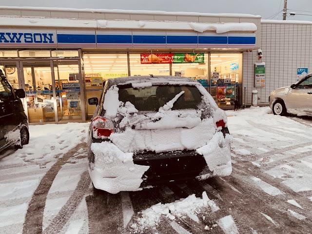 後車牌被雪覆蓋