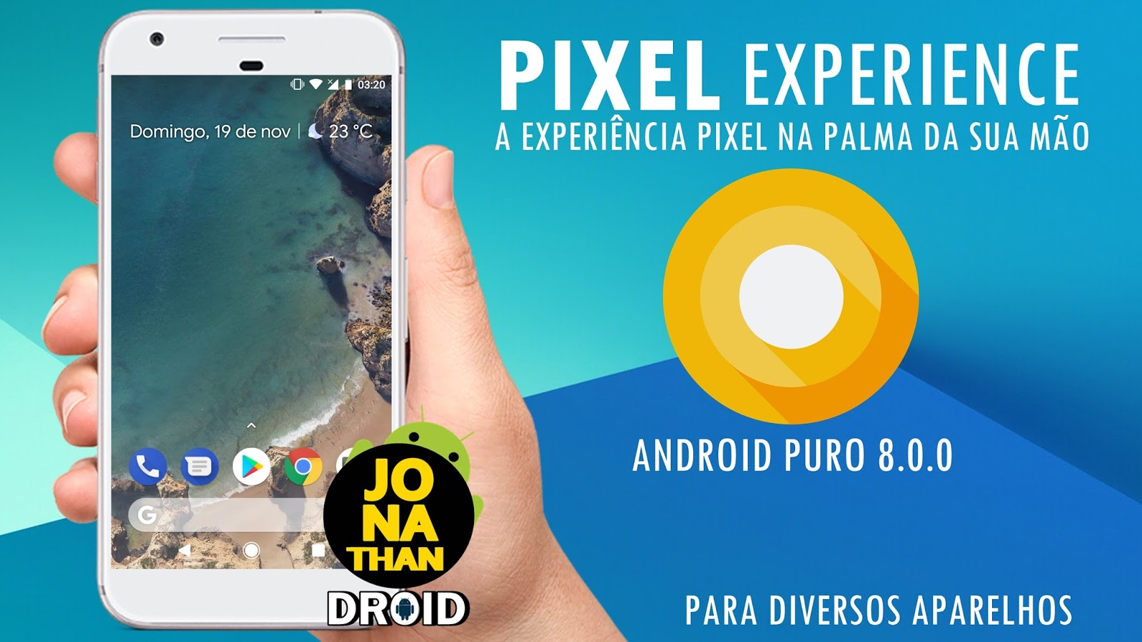 ROM - Pixel Experience Android Puro 8 0/8 1 Oreo - Para Moto