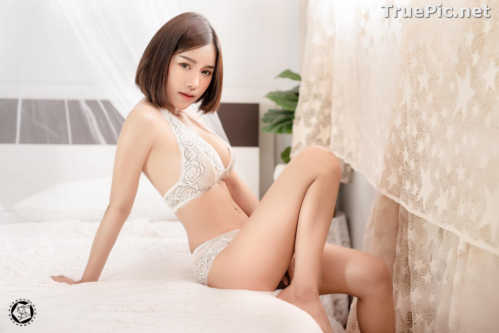 Image Thailand Model - Papoy Kuanpradit - Sexy White Lingerie - TruePic.net - Picture-14