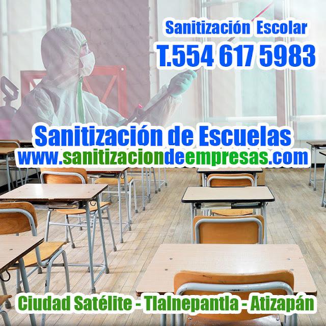 Sanitización de Escuelas en Ciudad Satélite