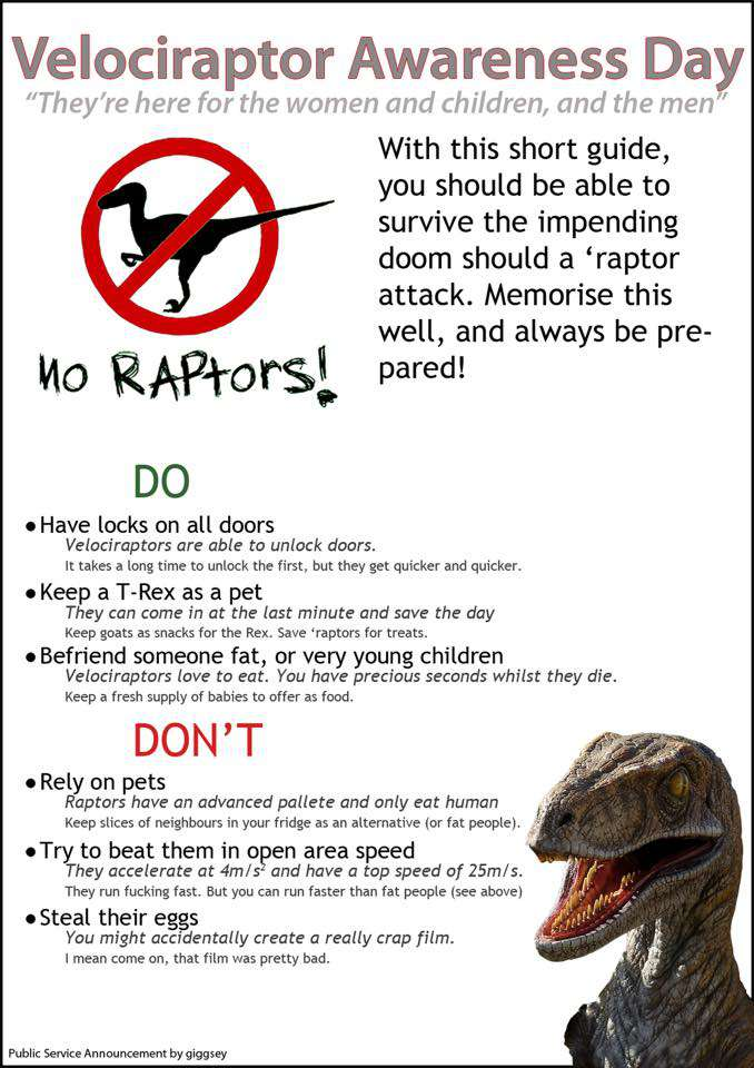 National Velociraptor Awareness Day Wishes Pics