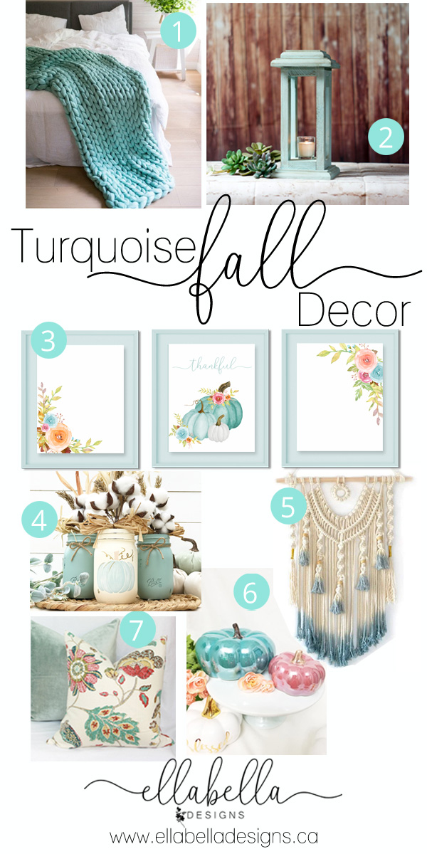 7 Turquoise Fall Decor Ideas